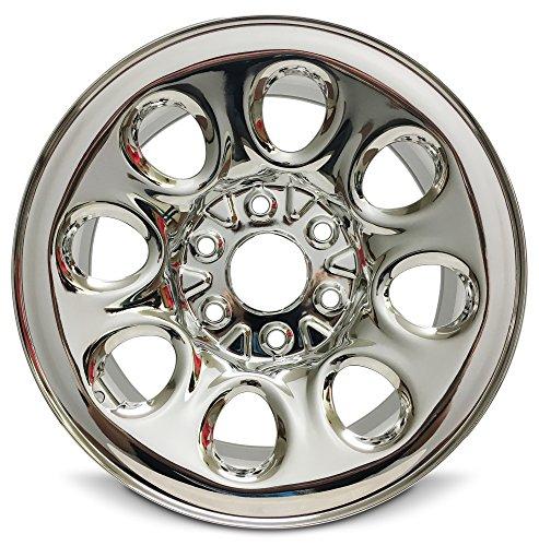 Chevrolet GMC Avalanche Sierra Silverado Tahoe Yukon Suburban 17 Inch 6 Lug Chrome Rim/17×7.5 6-139.7 Chrome Wheel