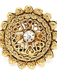 Limited Edition Ethnic Gold Look Finger Ring By Zaveri Pearls - ZPFK5391