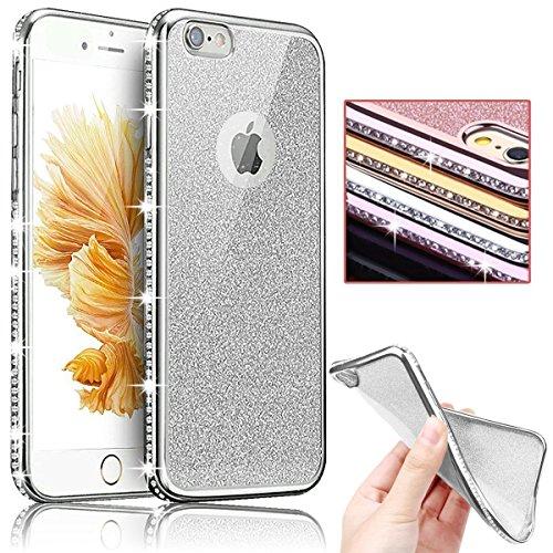 Sunroyal® Bling TPU Coque pour Apple iPhone 6/6S (4.7 pouces) Ultra Mince Paillette Case Cover Telephone Portable Soft Housse Cas Prime Flex Silicone ...