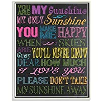 The Kids Room By Stupell You Are My Sunshine Black Background Rectangle Wall Plaque