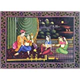 "Dolls Of India ""King Enjoying The Moonlit Night"" Reprint On Paper - Unframed (34.29 X 24.77 Centimeters)"