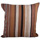"Swadeshi Store Multi Color Stripe 100% Handwoven Cotton Cushion Cover - Multi Color (16""X16"") - B00NUT3JYM"