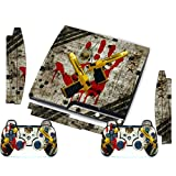 TQSÂTM Designer Skin For Sony PS3 Slim Console System Plus Two(2) Decals For: Playstation 3 Dualshock Controller...