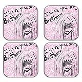 MeSleep Love Brother Wooden Coaster-Set Of 4 - B013LEK560