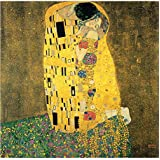 Tallenge Old Masters Collection - The Kiss By Gustav Klimt - Premium Quality Rolled Canvas Art Print For Home...