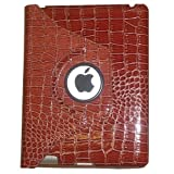 USAHITEC JYtrend 360 Degrees Rotating Stand Leather Smart Cover Case For The New IPad 4 / IPad 3 /iPad 2 Crocodile...