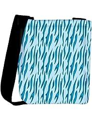 Snoogg Abstract Blue Chetah Design Designer Womens Carry Around Cross Body Tote Handbag Sling Bags