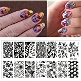 New BORN PRETTY BP-L024 Flower Theme Nail Stamp Stamping Template Image Plates Nail Art Decoration Tool Manicure...