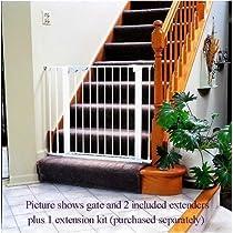 Kidco G15 WHITE 37-1/2 Inch Adjustable Child Safety Gate