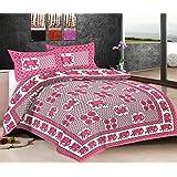 Viskar Fab Tex Rajasthani Hand Block Printed Jaipuri Cotton Double Bedsheet With 2 Pillow Covers Ele Ethnic Hot...