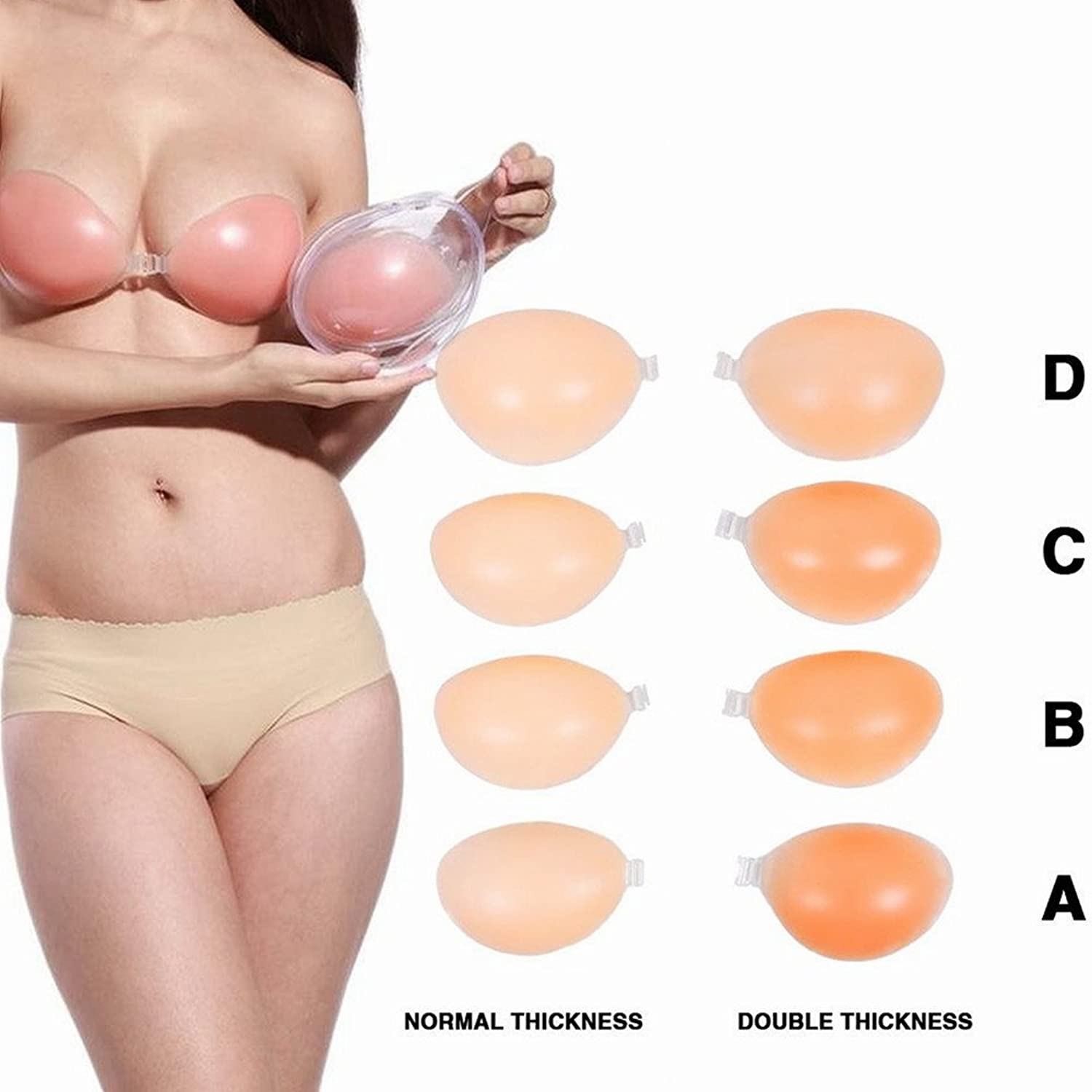 8b44465630993 Details about Sexy Invisible Push-Up Silicon Bra Strapless Self Adhesive  Backless Bra