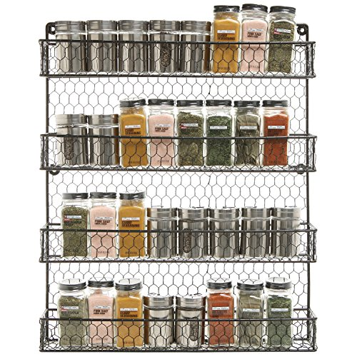 wall mounted kitchen storage rack 4 tier black wire pantry cabinet or wall mounted spice 8880