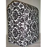 Black & White Vinyl Damask Kitchenaid Lift Bowl Stand Mixer Cover