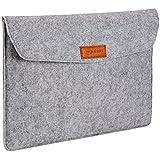 AmazonBasics NC1506107R2 15.4-inch Felt Laptop Sleeve (Light Grey)