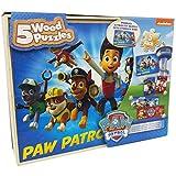 Paw Patrol 5 Wood Puzzles