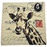 Reednpick Cotton Giraffe Print 3 Pc Pack Cushion Cover