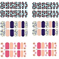 [6 Sheet]Nail Art Sticker Nail Decal Full Nail Wrap Nail Art Tattoo Pattern A