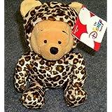 "Hard To Find Disney Winnie The Pooh Wild Leopard 7"" Plush Winnie The Pooh Bean Bag Doll"
