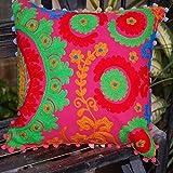 Suzani Pillow Cushion Cover Decorative Embroidered Ethnic Suzani Pillow Cases Embroidered Cushion Cover