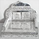Metal Carving Ritual Throne For Deity - Wood And Metal Foil Paper