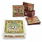 Buy Meenakari Dryfruit Box N Get Tea Coasters Free