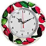 Floating Petals ~ Oil Filled ~ Limited Edition PREMIUM Wall Clock / Table Clock With Stand (2 In 1 ) 18 Cms Dia...