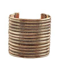 Ganapathy Gems Oxidised Brass Plated Handcuff (8107)