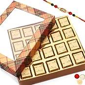 Rakhi Chocolates-Golden Checks Assorted Chocolate Box