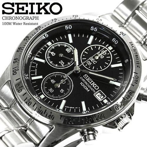 [SEIKO]セイコー クロノグラフ 1/20秒高速測定モデル 腕時計 SND367P メンズ Mens 海外モデル 逆輸入 ウォッチ バックル [並行輸入品] [並行輸入品]