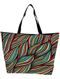 Snoogg Vector Hand Drawn Waves Texture Waterproof Bag Made Of High Strength Nylon