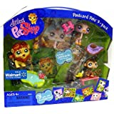 Littlest Pet Shop Exclusive Postcard Pets 3-Pack In Carry Case (Includes Monkey Lion And Ostrich)