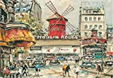Coeus Wooden Puzzles-a Series of Scenery - Moulin Rouge ,Educational Games for Kids / Puzzles for Adults,1000 Pieces Jigsaw Puzzle