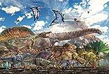 40ピース ジグソーパズル 恐竜大きさ比べ ラージピース(26x38cm)