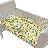Fancy Fluff Premium Cot Bedsheet, Pillow & Bolster Set- NOAHS ARK