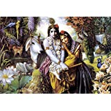 Tallenge - Lord Krishna With Radha - A3 Size Rolled Poster