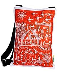 Eco Corner Women's Sling Bag (Multi-Coloured) (2887-ORANGE)