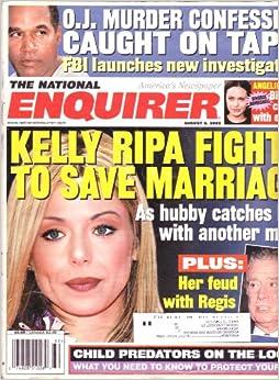 August 6, 2002 National Enquirer KELLY RIPA REGIS PHILBIN