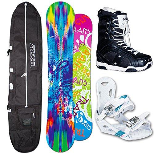 TRANS FE Snowboard Set Camber Girl 152cm 2015 + Elfgen ECO white Gr. M + Boots + Bag