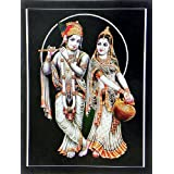 "Dolls Of India ""Radha Mesmerised By Krishna's Flute"" Reprint On Card Paper - Unframed (29.21 X 22.86 Centimeters..."