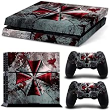 Elton Umbrella Zombie Theme 3M Skin Decal Sticker For PS4 Playstation 4 Console Controlle