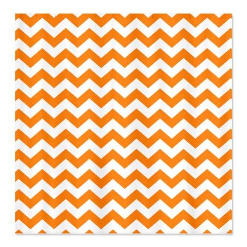 chevron pattern orange Shower Curtain