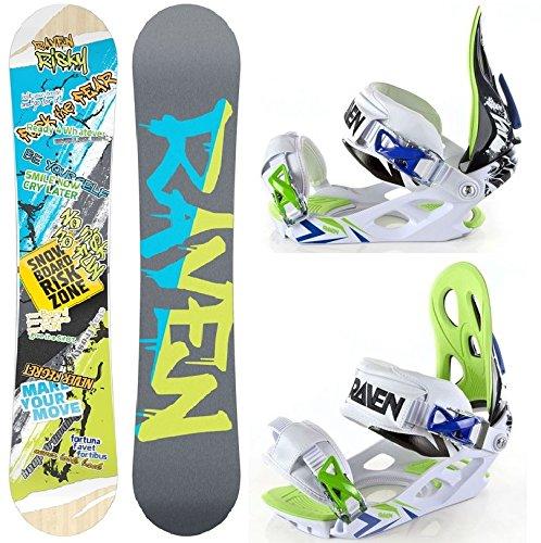 Snowboard Set: Snowboard Raven Risky Rocker 2015 + Bindung Raven Ghost L