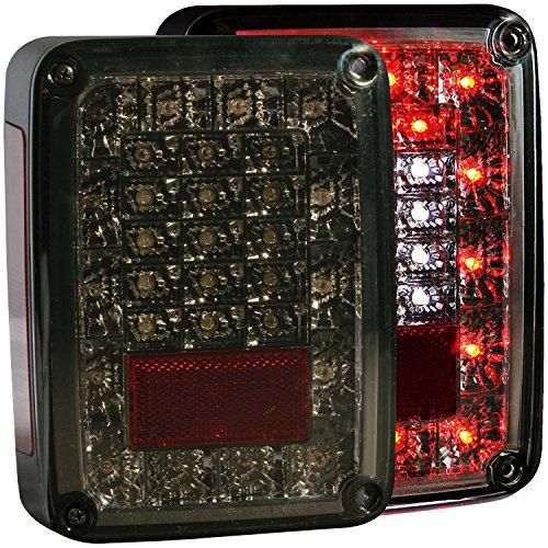 Anzo USA 311203 Smoke LED Tail Light for Jeep Wrangler