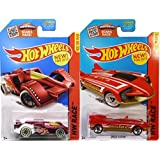 Hot Wheels Race Red 2015 Tooling Hot Wheels 2 Car Speed Set Hw Racing Track Cars Speed Slayer #180 & Epic Fast