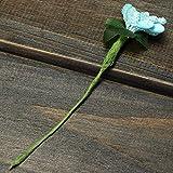 Bluelover Micro paisaje decoraciones paño flor arte jardín decoración BRICOLAJE-azul
