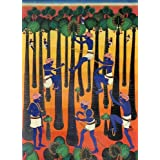 """Dolls Of India """"Risky Life"""" Reprint On Paper - Unframed (original By Dr. Rajaiah K.) (48.26 X 34.29 Centimeters..."""