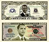 Barack Obama 44th President 2008 Double Collectors Bill Collector Set 1-One Million Dollar Bill and 1-2008 FEDERAL OBAMA NOTE Bill
