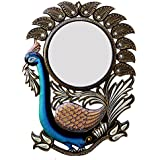 Ghanshyam Art Wood Peacock Wall Mirror (45.72 Cm X 4 Cm X 60.96 Cm, GAC064)