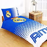 Real Madrid FC Fade Reversible Single Duvet Cover and Pillow Case Set