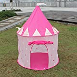 Girl's Beautiful Pink Princess Castle, Best Play Tent for Your Kids Lightweight and Portable-great Children Playhouse for Indoor or Outdoor, Makes Great Gift By Playou